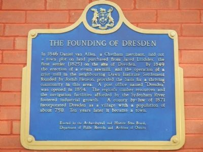 The Founding of Dresden Marker image. Click for full size.