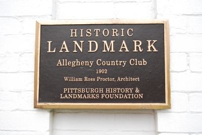 Allegheny Country Club Marker image. Click for full size.