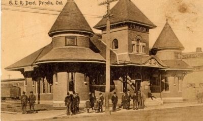The Grand Trunk Railway Station, today's library. image. Click for full size.