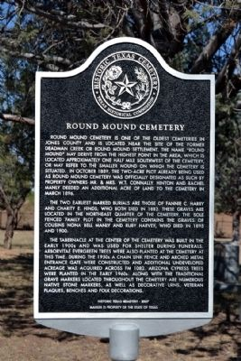 Round Mound Cemetery Marker image. Click for full size.
