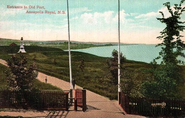 <i>Entrance to Old Fort, Annapolis Royal, N.S.</i> image. Click for full size.