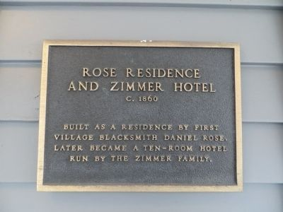 Rose Residence and Zimmer Hotel Marker image. Click for full size.