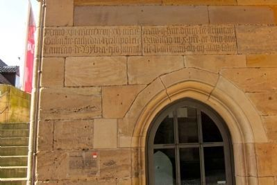 Latin Inscription Above Door <i>(click on image to enlarge)</i> image. Click for full size.