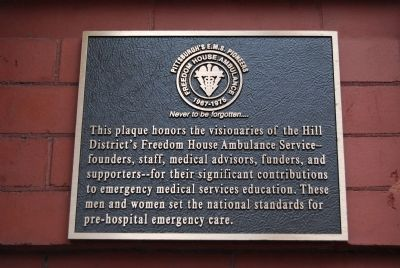 Freedom House Ambulance Marker image. Click for full size.