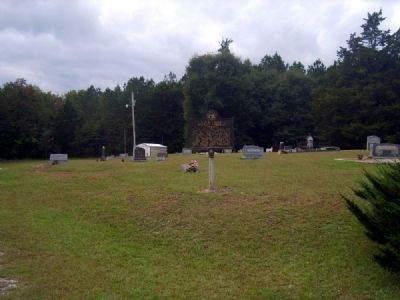 Van's Creek Baptist Church Marker<br>Church Cemetery in Background image. Click for full size.