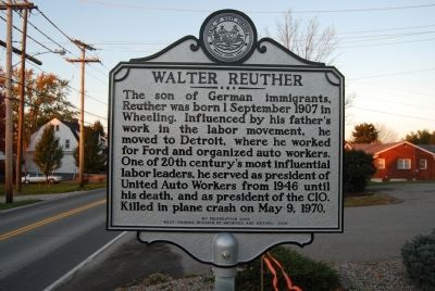Walter Reuther Marker image. Click for full size.