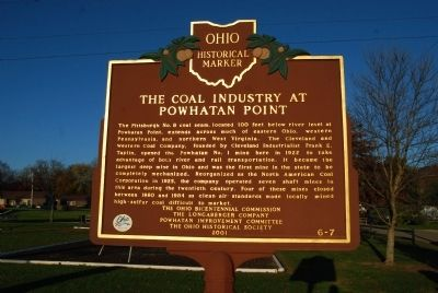 The Coal Industry at Powhatan Point Marker image. Click for full size.