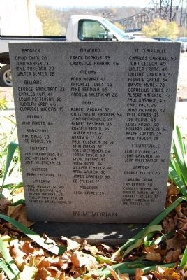 Willow Grove Mine Marker-Names of Victims image. Click for full size.