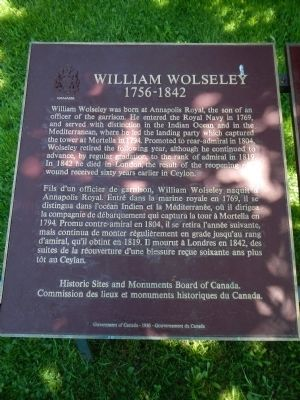 William Wolseley Marker image. Click for full size.