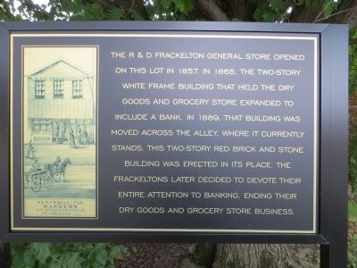 R & D Frackelton General Store Marker image. Click for full size.