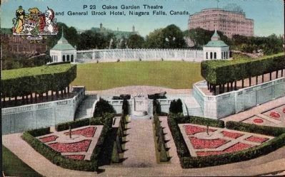 """Oakes Garden Theatre and General Brock Hotel, Niagara Falls, Canada"" image. Click for full size."