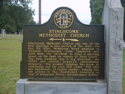 Stinchcomb Methodist Church Marker image. Click for full size.