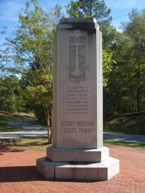 Bobby Brown State Park Monument West Inscription image. Click for full size.