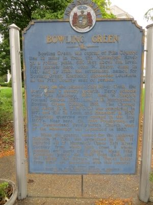 Bowling Green Marker <i>Side A:</i> image. Click for full size.