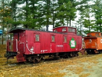 Caboose Grand Trunk Ry. No 75953 and Marker image. Click for full size.