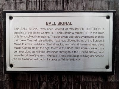 Ball Signal Marker image. Click for full size.