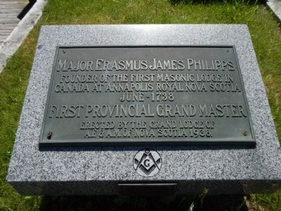 Major Erasmus James Philipps Marker image. Click for full size.