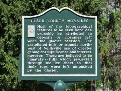 Clark County Moraines Marker image. Click for full size.