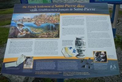 The French Settlement of Saint-Pierre Marker image. Click for full size.