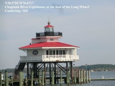 Long Wharf-Choptank River Lighthouse image. Click for full size.