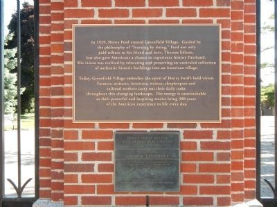 Henry Ford Museum and Greenfield Village Marker image. Click for full size.