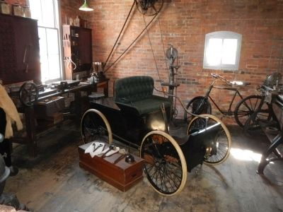 The first Ford motor car (replica) image. Click for full size.