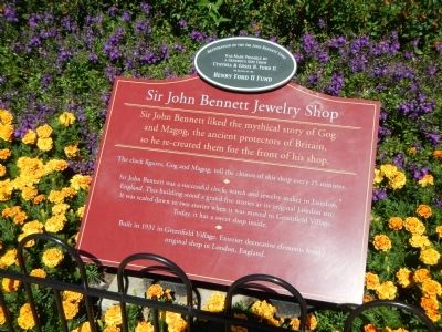 Sir John Bennett Jewelry Shop Marker image. Click for full size.