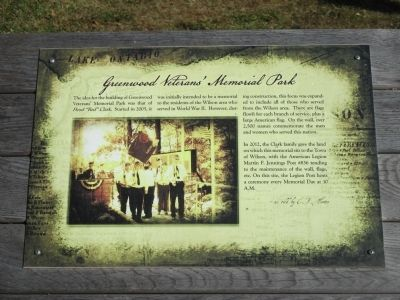 Greenwood Veterans' Memorial Park Marker image. Click for full size.