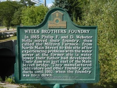 Wells Brothers Foundry Marker image. Click for full size.