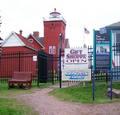 Two Harbors Light Station and Marker image. Click for full size.