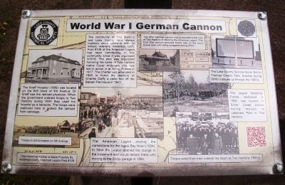 World War I German Cannon Marker image. Click for full size.