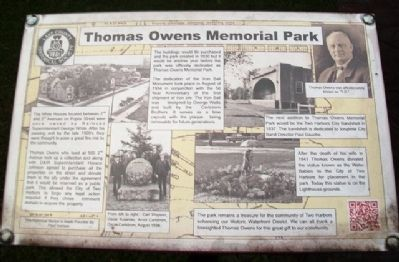 Thomas Owens Memorial Park Marker image. Click for full size.
