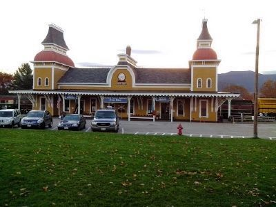 North Conway Railroad Station image. Click for full size.