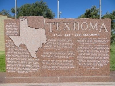 Texhoma Marker image. Click for full size.