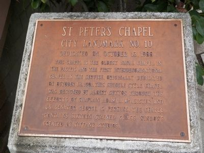 St. Peter's Chapel Marker image. Click for full size.