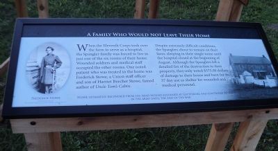 A Family Who Would Not Leave Their Home Marker image. Click for full size.