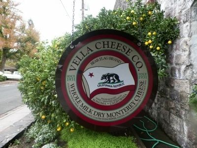 Vella Cheese Factory Sign image. Click for full size.