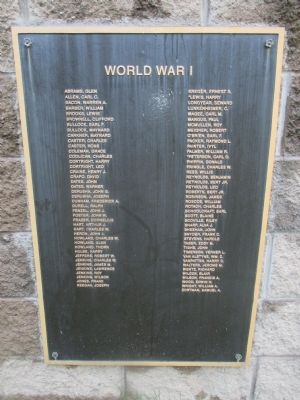WWI Plaque - Left image. Click for full size.