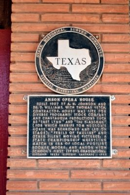 Anson Opera House Marker image. Click for full size.