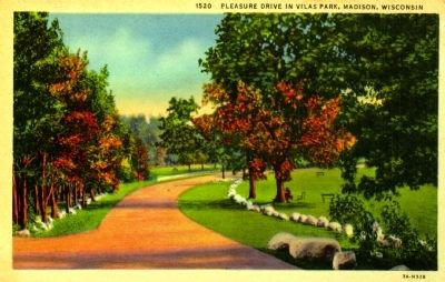 <i>Pleasure Drive in Vilas Park Madison, Wisconsin </i> image. Click for full size.