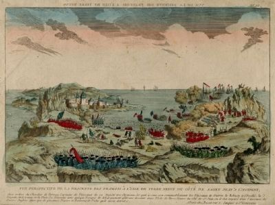 Battle of Signal Hill, a contemporary French engraving image. Click for full size.