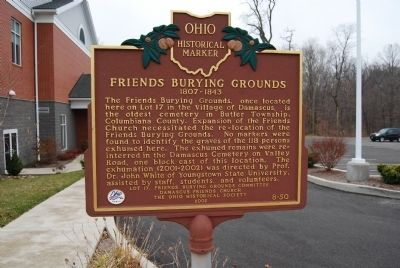 Friends Burying Grounds Marker image. Click for full size.