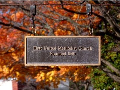 First United Methodist Church<br>Founded 1840 image. Click for full size.