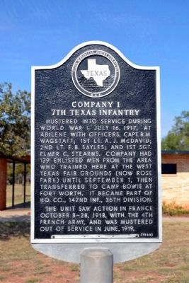 Company I 7th Texas Infantry Marker image. Click for full size.