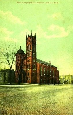 <i>First Congregational Church, Jackson, Mich.</i> Photo, Click for full size