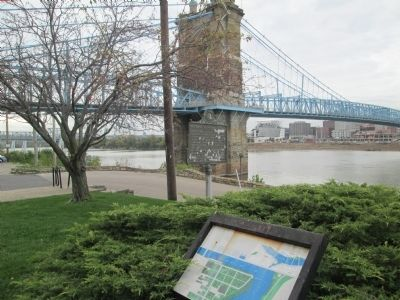 Roebling Suspension Bridge site image. Click for full size.