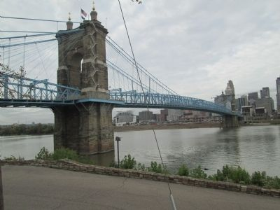 Roebling Suspension Bridge image. Click for full size.