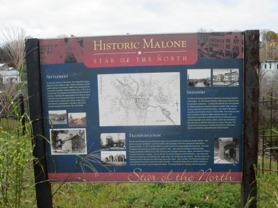 Historic Malone Marker image. Click for full size.