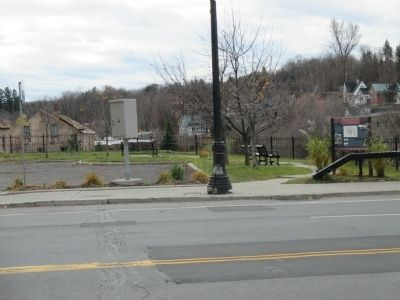 Historic Malone Marker and Parking image. Click for full size.
