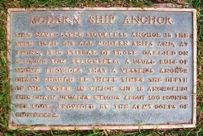Modern Ship Anchor Marker image. Click for full size.